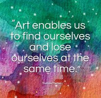 Art enables us to find ourselves and lose ourselves at the same time, by Thomas Merton at Professional Artist Magazine at Pinterest