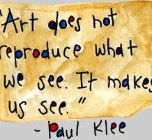 Art does not reproduce what we see. It makes us see, by Paul Klee, artist at Kerstin Kendale Börjesson at Pinterest